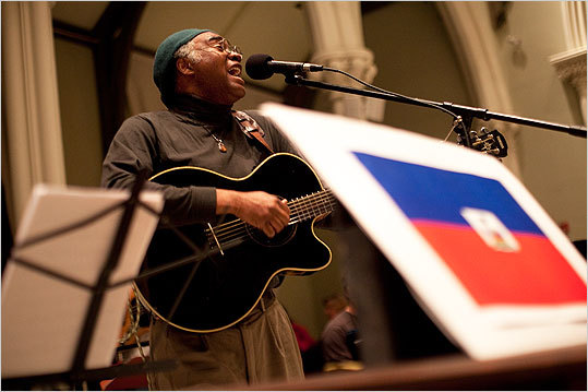 Haitian musician Gifrants sang for the crowd at the José Mateo Ballet Theatre benefit.
