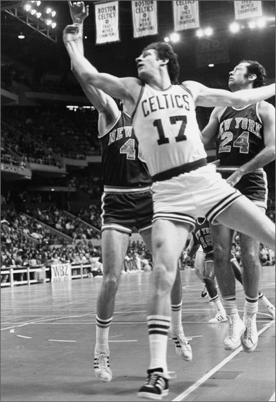 John Havlicek John Havlicek's nickname, Hondo, was inspired by the John Wayne movie of the same name. Havlicek starred for the Celtics for 16 seasons and had a history of coming through in big games. He revolutionized the 'sixth man' role and leding Boston to NBA championships in 1974 and 1976 as their captain. He played on eight Celtics championship teams overall and his versatility made him perhaps the finest all-around player in the history of the NBA, according to Sports Illustrated. In 1,270 regular-season games, Hondo scored 26,395 points and averaged 20.8 points to rank as the Celtics' career leading scorer and top scorer in NBA history, although he has since been passed in the NBA list. Late Celtics broadcaster Johnny Most made a famous call describing the closing seconds of Game 7 of the 1965 Eastern Conference Finals between the Celtics and the Philadelphia 76ers: 'Greer is putting the ball into play. He gets it out deep… Havlicek steals it! Over to Sam Jones. Havlicek stole the ball! It's all over! Johnny Havlicek stole the ball!' And the Celtics would go on to capture their seventh consecutive championship.