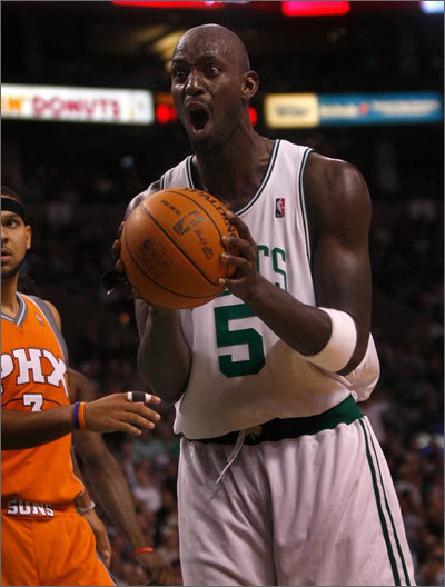 Kevin Garnett Also known as KG, Garnett was labeled The Big Ticket prior to his arrival in Boston because of his ability to attract fans to buy tickets for games. He played for 12 seasons in Minnesota. In Boston, however, he was the ticket to a championship as Garnett, along with Paul Pierce and Ray Allen, led the Celtics to the NBA title in 2008.