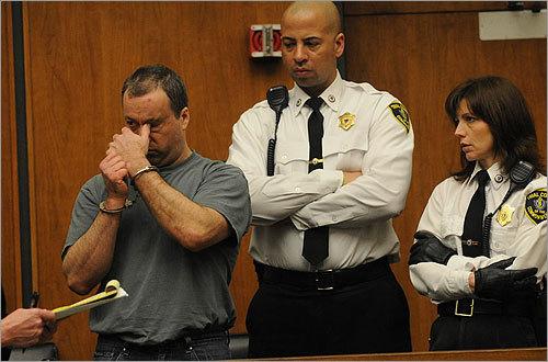 Kerrigan reacted as he was arraigned.