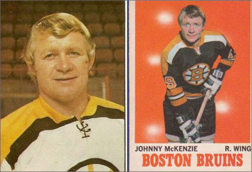 Johnny McKenzie John McKenzie, was a staple of the Big Bad Bruins from 1966 to 1972. The High Rover, Alberta native -- who was known to take a run at an opposing player whenever he stepped on the ice -- was so popular for his rough style of play that Bruins fans bought hundreds of bumper stickers that read 'No matter how you slice it, Pie is the greatest.' His nickname, Pie, a reference to his facial similarities to a cartoon character named Pie Face.
