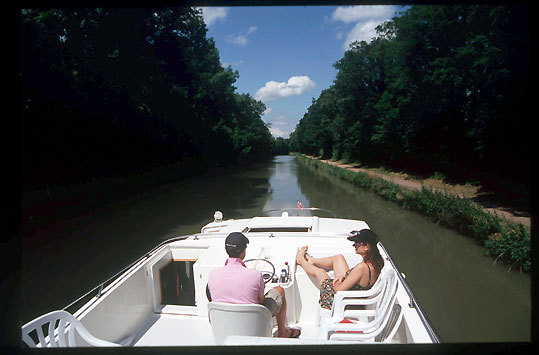 Barging in central France on the Canal Lateral a la Loire.