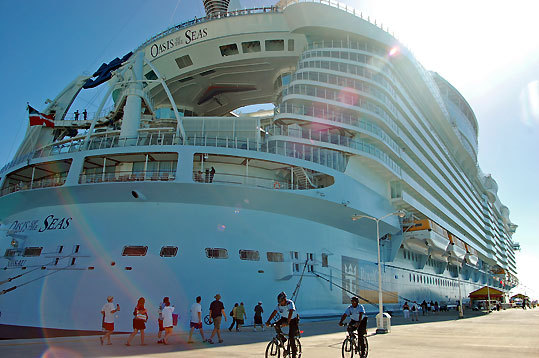 The 16-deck-high Oasis is the largest cruise ship ever built, at a cost of $1.4 billion. The National Geographic Channel will air a feature on Oasis for its 'Man-Made' series on April 15.