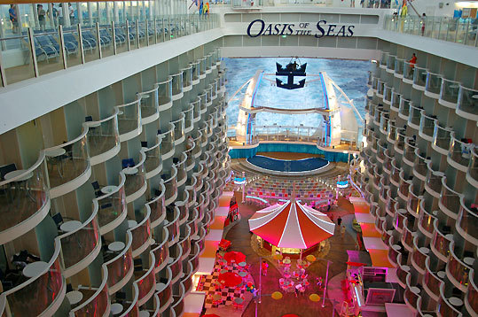 'The View' encompasses stateroom balconies, the Boardwalk, and the ship's AquaTheater.