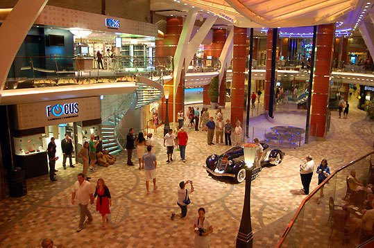 The Royal Promenade on the Oasis of the Seas, the hub of the ship