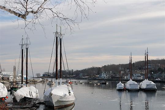 Windjammers in the harbor.
