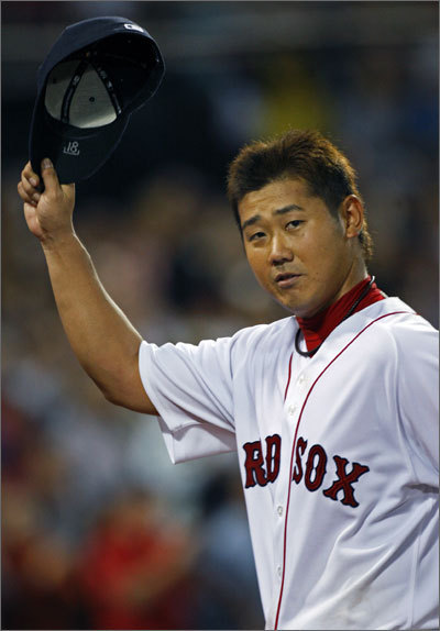 Previous ranking: 17th Talk about your epic disasters. Matsuzaka won just four games last season, finished with a 5.76 ERA, and spent much of the summer exiled to Ft. Myers to work on his conditioning. He says he's ready for redemption, but the Sox aren't depending on him like they did a year ago, and they're remaining cautious, keeping him behind in Ft. Myers to begin the season to make sure he's fully healthy. <!-- // define variables var date = new Date(); var current_time = date.getTime(); // write SCRIPT tag to browser document.writeln(' '); // -->