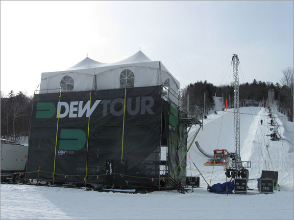 The halfpipe at Mount Snow will be the site of a Winter Dew Tour competition featuring freeskiers and snowboarders this weekend.