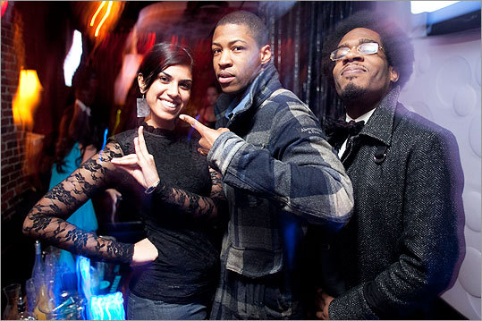From left: Sakeena Kazmi of Amherst, Gaway Cantave of Milton, and Claudel Sanon of Milton mugged for the camera