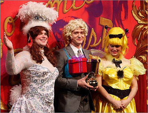 Justin Timberlake was named Hasty Pudding Man of the Year for 2010 at Harvard University