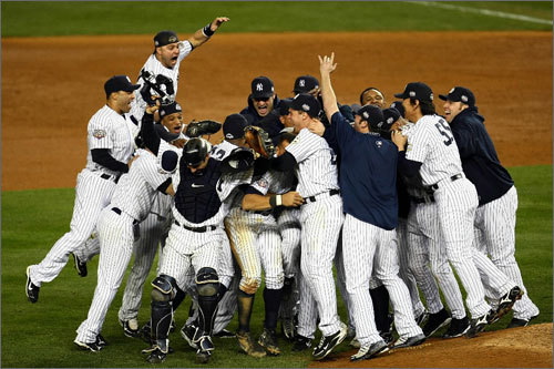 Nov. 5, 2009 Damon won another World Series in the final year of his contract with the Yankees.