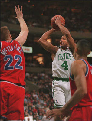 No. 4: David Wesley 3PM: 270 3PA: 677 3P%: .399 Games: 207 Wesley played for three seasons in Boston before joining the Hornets for the next seven seasons. The point guard was good for 1.3 3-pointers each game. He ranks fourth all time in in Celtics history in terms of percentage.