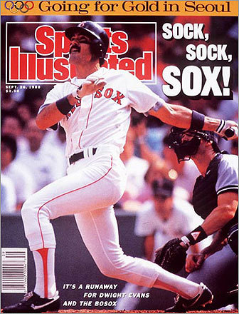 Longtime Red Sox right fielder Dwight Evans made the Sept. 26 SI cover. In the following two weeks, Dewey went into a 4-for-30 slump at the plate.