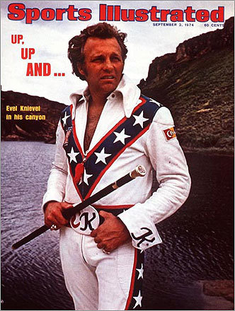 The late daredevil Evel Knievel gained fame for jumping his motorcycle over rows of cars and buses. When he decided to try to jump over Snake River Canyon in Idaho with a combination cycle and rocket, he probably didn't need SI's help in failing. But here he was, on the Sept. 2 cover. On Sept. 8, he failed miserably, parachuting 600 feet to the bottom of the canyon. Amazingly, he suffered only minor injuries.