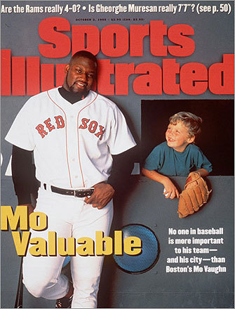 As the Red Sox headed into the '95 playoffs, slugger Mo Vaughn was featured on the Sports Illustrated cover. But in a three-game sweep of the Sox by the Cleveland Indians, Mo went 0-for-14.