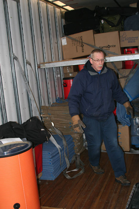 Truck driver Al Hartz of New England Household Moving and Storage, the company that has carted the Sox gear to Florida for the last 12 years, was back to drive the truck for the 12th time himself. 'I'm not expecting any issues with the weather,' Hartz said. 'It should be a clean ride all the way down.'