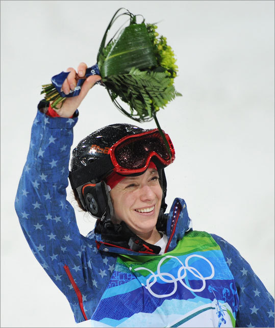 Hannah Kearney of Norwich, Vt., won the gold medal in the women's moguls late Saturday night in Vancouver. Kearney was the first US athlete to win a gold medal at the 2010 Olympics.
