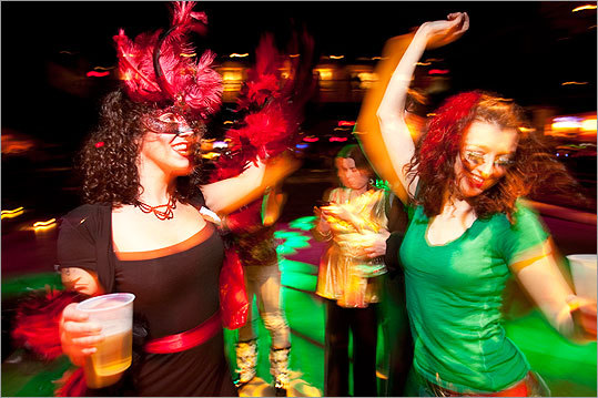 'Penny Candy' danced with 'Mary Widow' to the sounds of the Hot Tamale Brass Band.