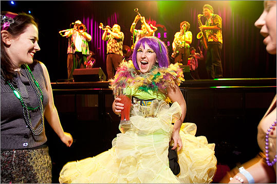'Grimlocke' rocked a big dress and monster print corset at the House of Blues.