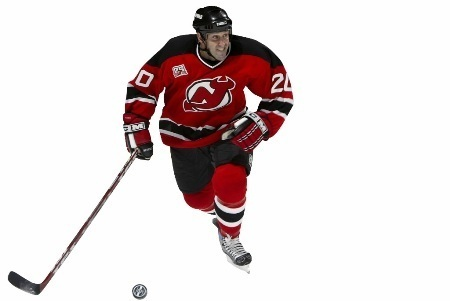 Jay Pandolfo He was a player for the New Jersey Devils but he started playing hockey at Burlington High School, and later at Boston University. Pandolfo has played 810 games in the NHL, with 99 goals and 124 assists. During the 2004-2005 lockout, Pandolfo coached hockey at his former high school. These days, he's a Forward for the New York Islanders.