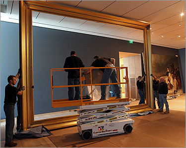 The original frame had been in storage for more than a century. The MFA said 4,000 staff hours were spent restoring it before it was installed.