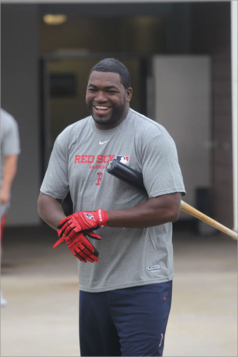 David Ortiz was among the first position players to report to spring training on Monday. Several arrived last week to participate in informal workouts while pitchers and catchers were reporting, but Monday was the first day position players were required to report.