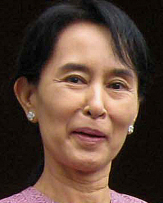 Aung San Suu Kyi has been held for 14 years.