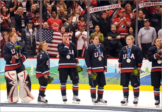 There was no hiding the disappointment for the US women's hockey players after they lost to Canada in the final Thursday.