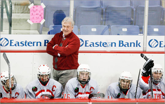 Catholic Memorial head coach William Hanson liked what he saw during action against Winchester on Saturday, February 27th, 2010.