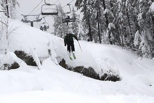 Attitash's Bear Peak got 21 inches.