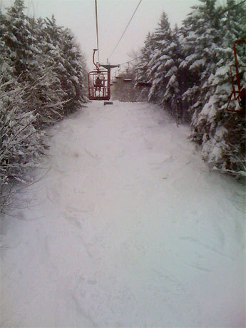 Magic Mountain in Londonderry, Vt. received more than four feet of new snow.