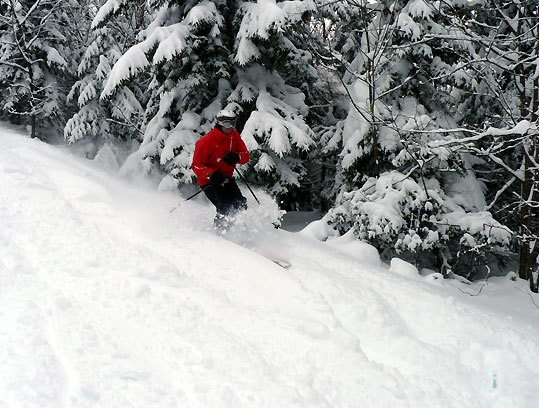 Tony Lehouillier ripped up some freshies at Smuggler's Notch, which saw three feet of snow.