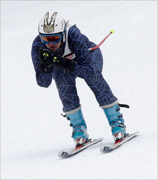 Danielle Scanlon of Waltham skied down the Giant Slalom at Wachusett Mountain Wednesday morning during the MIAA state championships.