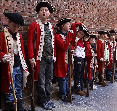 Children reenact the Boston Massacre - Boston.com