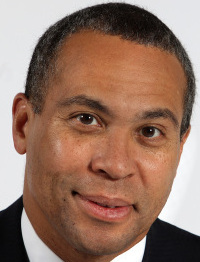 Governor Deval Patrick seized on the chance yesterday to criticize Charles Baker.