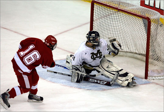 In a second look of Rick Boyle's game-winning goal for Hingham, Boyle flicked the shot right past Malden Catholic goalie Pat Young's left ear.