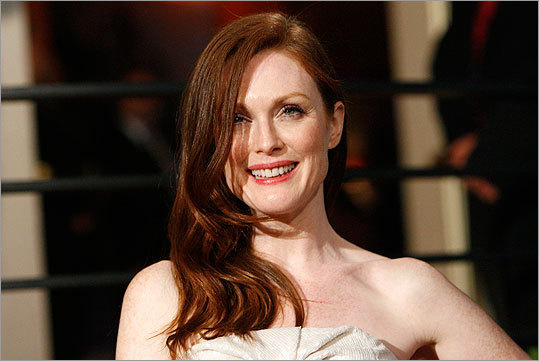 Actress Julianne Moore is one of many celebrity redheads.