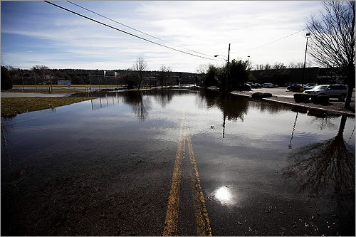 Skillings Road near Winchester High School was flooded.