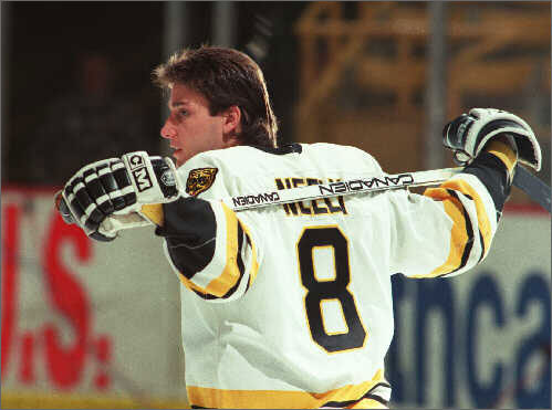 Cam Neely Cam Neely was so much more than a fighter, of course. Skilled and creative, tough and aggressive, he was to many the ideal Bruin, and he was universally admired by fans. He scored from 36 to 55 goals in each of his first five seasons during his 10 years in Boston, and in each of his first four seasons here collected at least 117 penalty minutes. Neely became a more selective fighter as he blossomed into superstardom, but he could still throw around his fists with just about anyone when the moment called for it. And his pummeling of cowering nemesis Ulf Samuelsson remains one of the most cathartic moments of revenge in Bruins history.