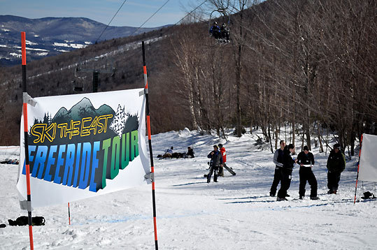 This weekend marks the final stop (weather permitting) on the First Annual Ski the East Freeride Tour at Mad River Glen. The tour is a combination of the four annual extreme events on the Vermont freestyle calendar with prequalification status for next year's Freestyle World Tour on the line.