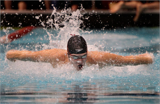Last meet, lasting memories If you asked me what's my favorite winter sport, the answer's easy: swimming. If you're the parent of a senior competing in his last high school event, you can't help but get choked up a bit ... ok, maybe a lot. The quietest kid on the planet started his swimming career as a freshman with a couple brave steps into the athletic director's office, followed by the words, ''I want to try out for the swim team.'' It ended as the team captain, bellowing out the pre-meet cheer for the last time at the Middlesex League meet. How did it happen? And does anyone else wonder where the time went? One thing's for sure, it was a lot of fun.