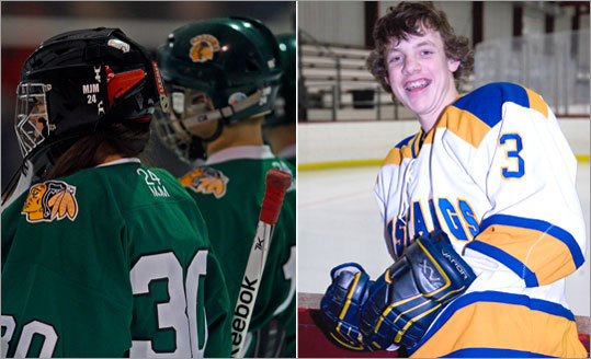 Sadness, concern on state hockey rinks Not everything that occured on the ice was good this winter. Just days after celebrating Christmas, 17-year-old Pentucket senior captain Matt McCarthy collapsed at center ice at the end of practice and died. His passing shocked not only the school but the entire hockey community. On the left, teammates remember him in a moment of silence in their first game after his death. Less than a month later, in a game against Weymouth, Norwood High sophomore Matt Brown (right) went into the boards and was injured, leaving him paralyzed. After time at Children's Hospital in Boston, he was transfered to a rehabilitation facility in Georgia. Hockey fans have rallied around his cause.