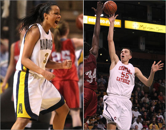 MVC schools ace Hoop 101 It's no coincidence that the Central Catholic boys and Andover girls won Division 1 state basketball titles this winter. It's well known that the Merrimack Valley Conference has some of the best teams around. The state results just proved it. Central was led by 6-foot-11-inch Wake Forest-bound Carson Desrosiers. As he described it, his fadeaway from the right shoulder kissed off the glass with five seconds left and gave the Raiders a 56-55 win. Andover's win had less drama, with the Golden Warriors taking a 73-37 win over East Longmeadow.