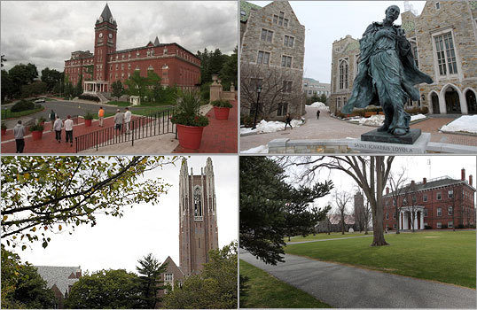 More and more colleges are crossing the rarefied $50,000-per-year barrier -- including many in New England. Here's a look at some of the priciest educations in the region. Totals include the cost of tuition, room and board and mandatory fees.
