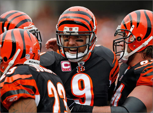 The breakout Bengals captured the AFC North last season, only to be eliminated from the playoffs by the Jets. Carson Palmer returned to top form and Chad Ochocinco is still dancing on the field (not to mention with the stars), but Cincinnati isn't much of a road team, last winning away from home on Nov. 15. 1 p.m., Sept. 12. at Gillette.