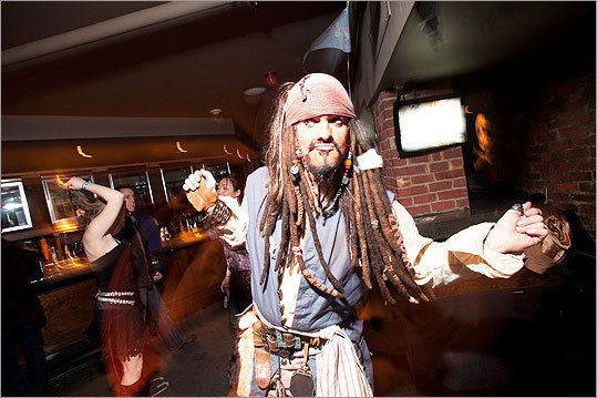 Jack Sparrow. Billy Taymor trotted out Johnny Depp's costume from 'Pirates of the Caribbean.' Arrrrr!