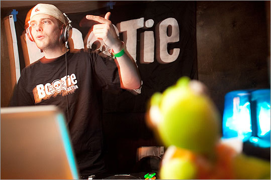 DJ McFly took a turn in the DJ booth during Bootie Boston.