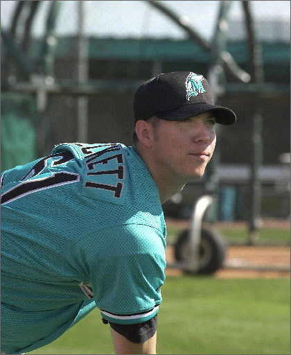 Beckett worked out for the first time with his team before the 2000 season. The Marlins finished 79-82 that year, and kept Beckett in the minor league system. Florida knew that the present was bleak, but the future was bright.