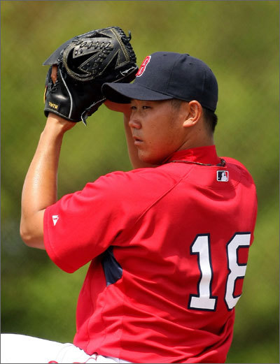 Meanwhile, Daisuke Matsuzaka pitched in an intrasquad practice as he continues to recover from stiffness in his neck.