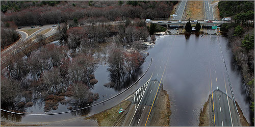 A closed Route 140 in East Freetown.